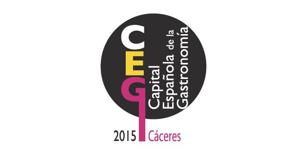 logo vector Cáceres Capital de la Gastronomía
