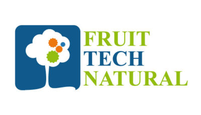 logo vector Fruit Tech Natural