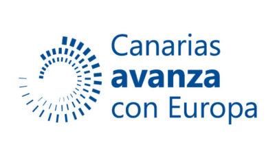 logo vector Canarias avanza con Europa
