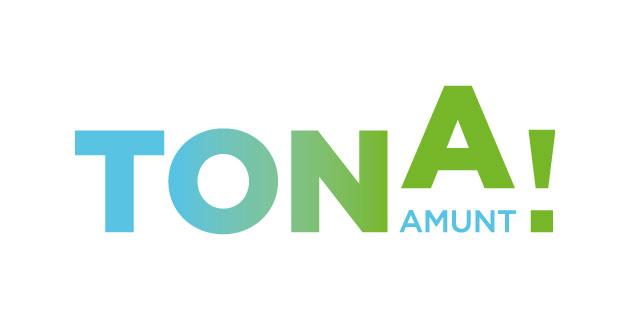 logo vector Tona Amunt!