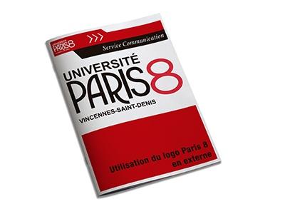 Université Paris 8 Vincennes-Saint-Denis utilisation du logo