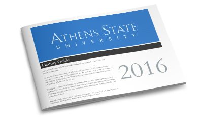 Athens State University identity guide